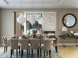 MIKOŁAJSKAstudio Eclectic style dining room