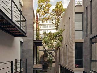 CBZ 30 Condesa- Ciudad de México industrial style corridor, hallway & stairs. by Hb/arq Industrial