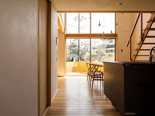Eclectic style walls & floors by 中山大輔建築設計事務所/Nakayama Architects Eclectic