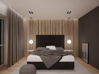 mieszkanie w Gliwicach Nowoczesna sypialnia od Agata Pozowska, architektura wnętrz Nowoczesny