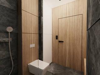 mieszkanie w Gliwicach Nowoczesna łazienka od Agata Pozowska, architektura wnętrz Nowoczesny
