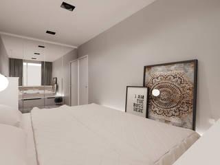 Mieszkanie w Zabrzu Nowoczesna sypialnia od Agata Pozowska, architektura wnętrz Nowoczesny