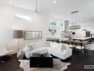Moderne woonkamers van Chibi Moku Modern
