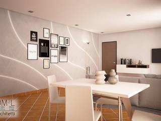 Ristrutturare contemporaneo Sala da pranzo moderna di DM2L Moderno