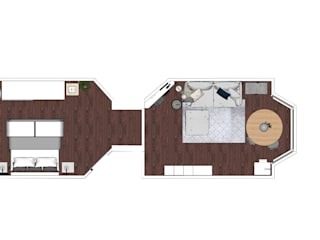 Layout plan - Small spaces :   door MEL design_