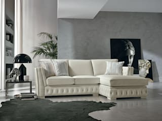 Viadurini Living roomSofas & armchairs Leather White