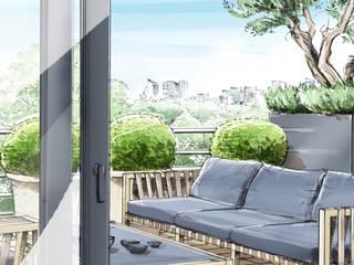 Terrasse au coeur de la ville - Paris -: modern  von Ecologic City Garden - Paul Marie Creation,Modern