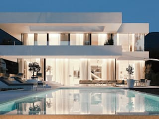 : Piscinas modernas por monovolume architecture  design