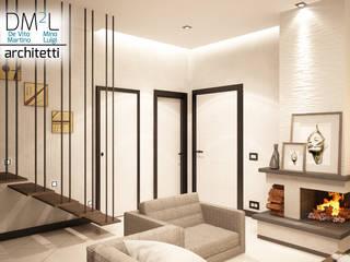 Duplex appartamento su due livelli Soggiorno moderno di DM2L Moderno