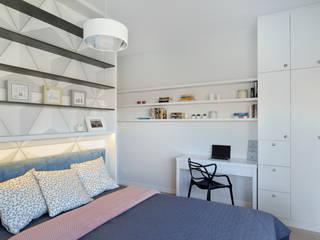 Mieszkanie na Bielanach: styl , w kategorii Sypialnia zaprojektowany przez Archilens Fotografia wnętrz i architektury