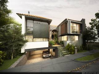 Exterior : Casas de estilo  por EBA Architecture & Desing