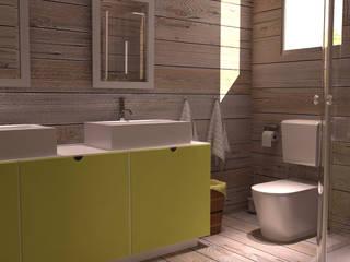 Image 3D de la salle de bain.: Salle de bains de style  par lateralis