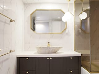 마블&골드 광장동 현대홈타운 욕실 인테리어 모던스타일 욕실 by 더어반인테리어 모던