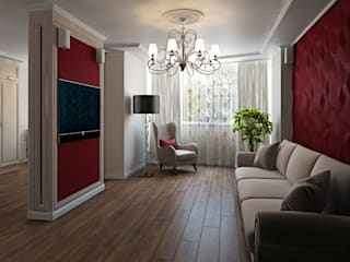 ДизайнМастер Classic style living room Red