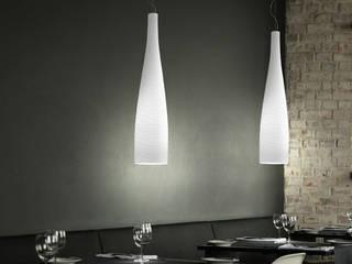 Lecuos Class 120 lampada a sospensione moderna in vetro soffiato:  in stile  di Viadurini