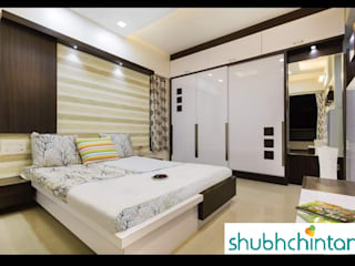 bed and wardrobe details Modern style bedroom by homify Modern Plywood