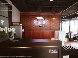 HOPE Premium HAIR SALON 서래마을 인테리어: im100 communications의  상업 공간