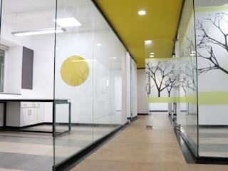 office interiors:  Office buildings by MYSPACE ARCHITECTS