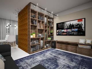 Ambientes Integrados: Salas de estar  por Evelyn Silvestre Arquitetura e Urbanismo,Moderno