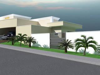 Residência no Condomínio Jardins Coloniais:   por Paulo Augusto Arquitetura