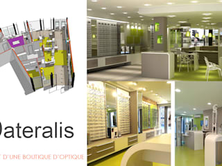 Agencement d'une boutique - plan - 3D - photos après travaux:  de style  par lateralis