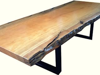 Natural Edged Wood Dining Room Table:   by Phases Africa Furniture & Decor PTY (Ltd)