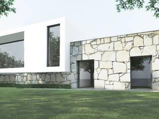 Fachada Noroeste: Casas modernas por Enponto