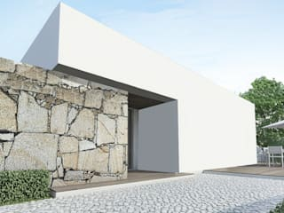 Fachada Sudoeste: Casas minimalistas por Enponto