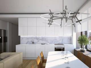 Апартаменты в Москве Столовая комната в стиле минимализм от background архитектурная студия Минимализм