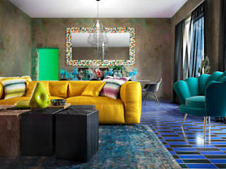 Eclectic style living room by VERONIKASTUDIO Eclectic