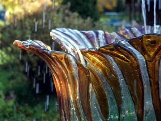 Rzeźba do ogrodu. Fontanna ze szkła. W.Glass Studio