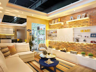 Sala:   por Cyntia Sabat Arquitetura e Interiores