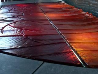 szklane, podświetlane posadzki Nowoczesne ściany i podłogi od W.Glass Studio Nowoczesny