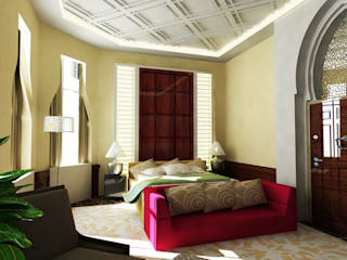 Arabian Villa Classic style bedroom by Obelisk Engineering & Contracting WLL. Classic