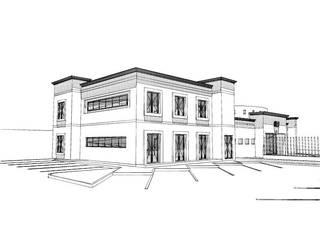 3h arquitectos Modern style study/office