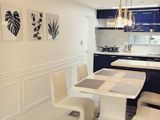 Modern dining room by Design Partner Blue box Modern
