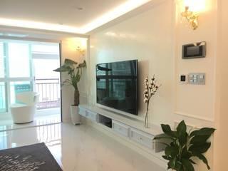 [주거공간] 아파트 인테리어 40평형대 모던스타일 거실 by Design Partner Blue box 모던
