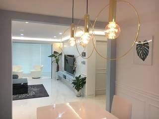 [주거공간] 아파트 인테리어 40평형대 모던스타일 다이닝 룸 by Design Partner Blue box 모던