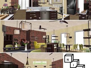 Einrichtungskonzepte in 3D Rustikale Esszimmer von NICE Homestaging Rustikal