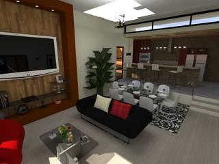 Salas modernas de N.A. ARQUITECTURA Moderno
