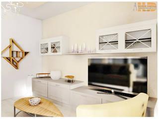 Soggiorno Vivian: Soggiorno in stile  di House Design Arredamenti