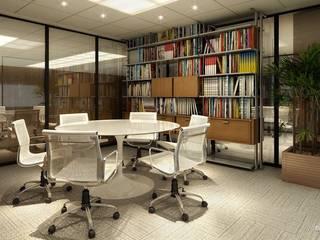 Sede Piraquê : Escritórios  por Domus Arquitetura e Construção