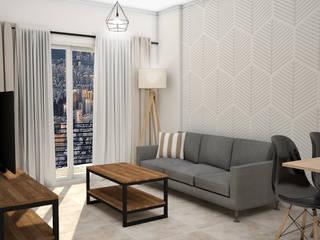 Living room by JACH, Scandinavian