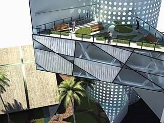 Terraza: Espacios comerciales de estilo  por EBA Architecture & Desing