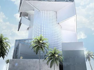 Exterior : Espacios comerciales de estilo  por EBA Architecture & Desing