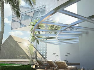Terraza : Espacios comerciales de estilo  por EBA Architecture & Desing