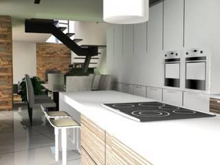 Estudo de Moradia: Cozinhas  por JCP arquitecto