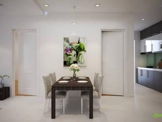 Thiết kế thi công nội thất căn hộ chung cư 125 phố Hoàng Ngân, Hà Nội: hiện đại  by Công ty TNHH Thiết kế và Ứng dụng QBEST, Hiện đại