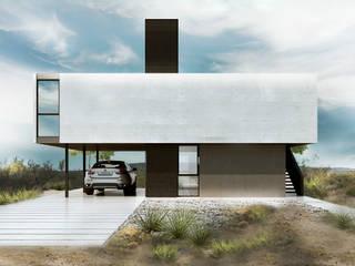 Proa Arquitectura Taman Minimalis Metal White