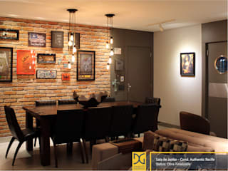 Industrial style dining room by Estúdio DG Arquitetura Industrial
